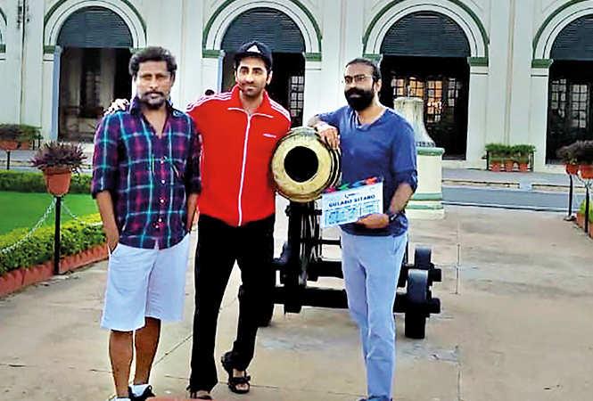 (L-R) Shoojit Sircar, Ayushmann Khurrana and Ronnie Lahiri (BCCL/ Aditya Yadav)
