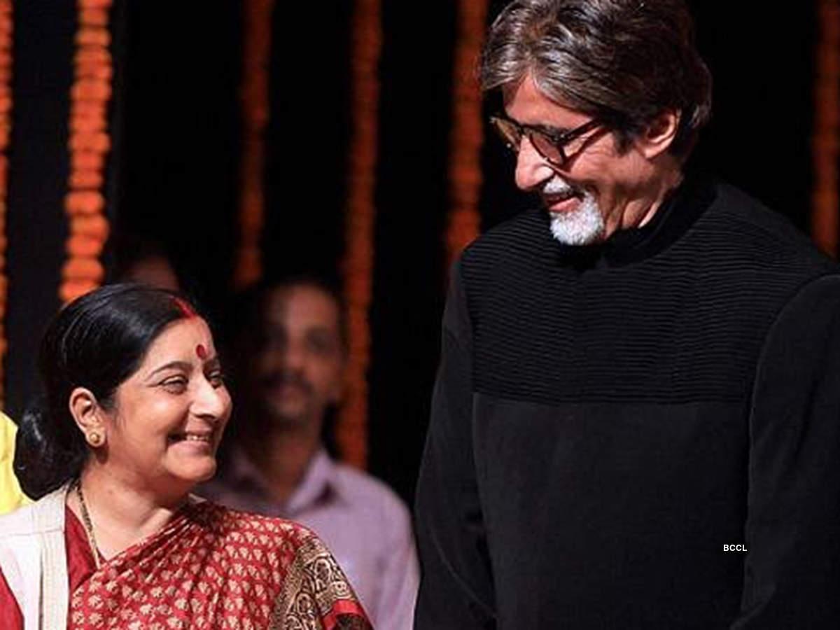 Sushma Swaraj's golden moments with Big B, Sridevi, Dilip Kumar & others