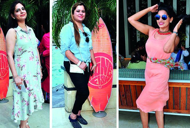 (L) Puneeta Khera (C) Robby Arora (R) Shruti Tandon (BCCL/ AS Rathor)