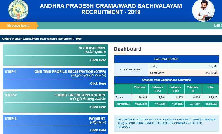 AP Grama Sachivalayam Last Date : Check How to Apply Online