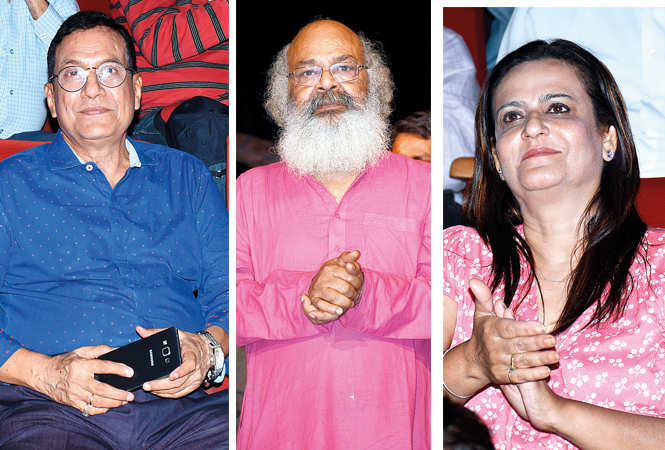 (L) Sangam Bahuguna (C) Surya Mohan Kulshreshtha (R) Tulika Kapoor (BCCL/ Vishnu Jaiswal)