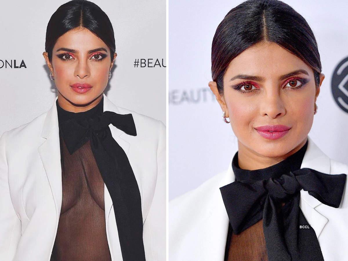 Priyanka Chopra stuns in bold pantsuit and striking makeup