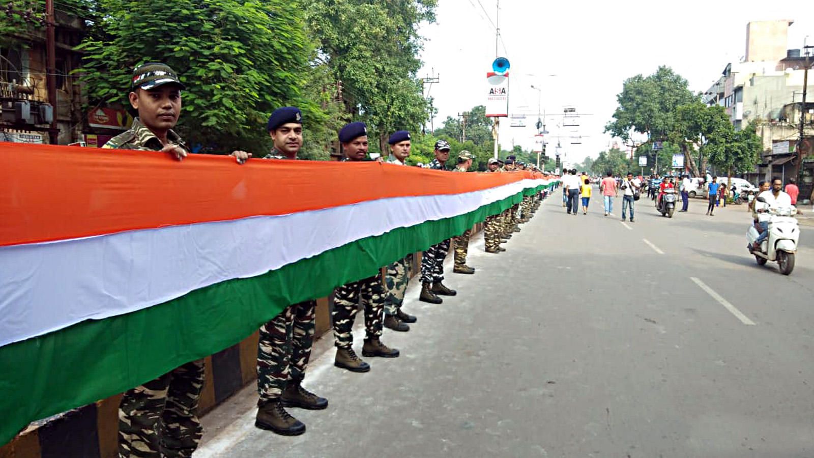 Independence Day: 15-km-long human chain formed to honour tricolor in Raipur