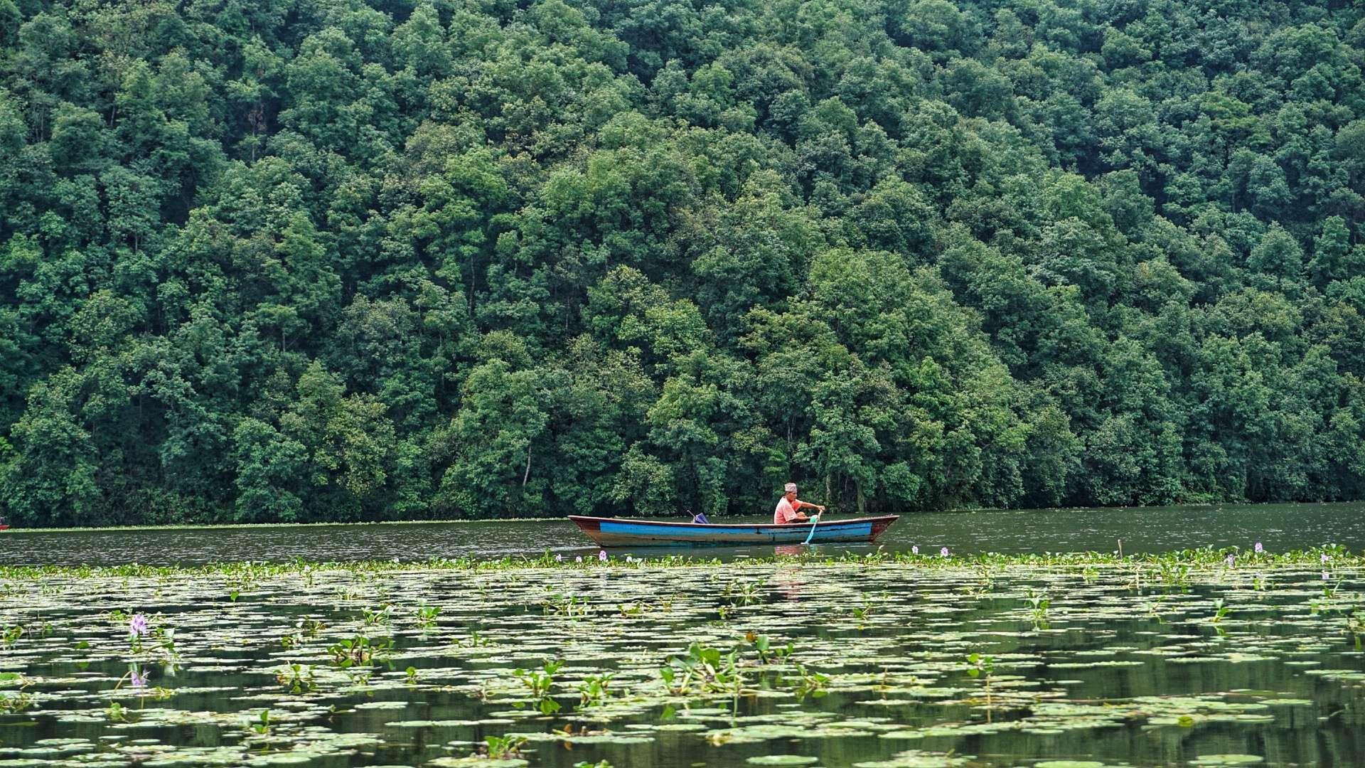 Phewa lake nepal.