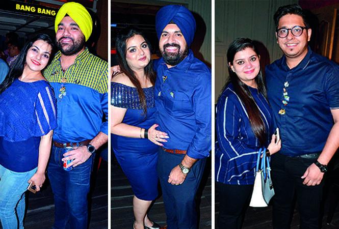 (L) Richa and Jagveer Saluja (C) Rini and Param Saluja (R) Shipra and Suyash Mehrotra (BCCL/ IB Singh)