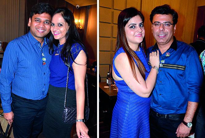 (L) Anubhav and Preeta Nemani (R) Bhumika and Mukul Rajani (BCCL/ IB Singh)