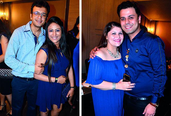 (L) Gaurav and Tulika Agarwal (R) Kashvi and Sinchit Rajani (BCCL/ IB Singh)