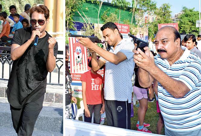 (L) Ayaz Sheikh (R) SHOOTOUT IN LUCKNOW! (BCCL/ Farhan Ahmad Siddiqui)