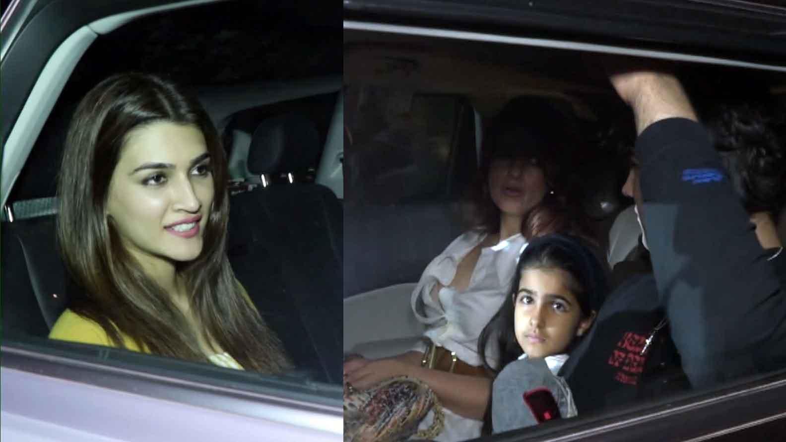 Mission Mangal: Kriti Sanon, Bhumi, Vaani Kapoor, Twinkle Khanna attend special screening