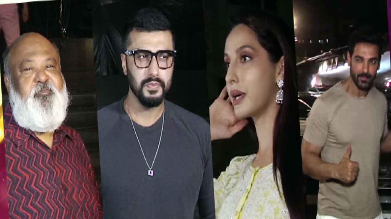 Arjun Kapoor, Saurabh  Shukla,  Nora Fatehi attend special screening of 'Batla House'