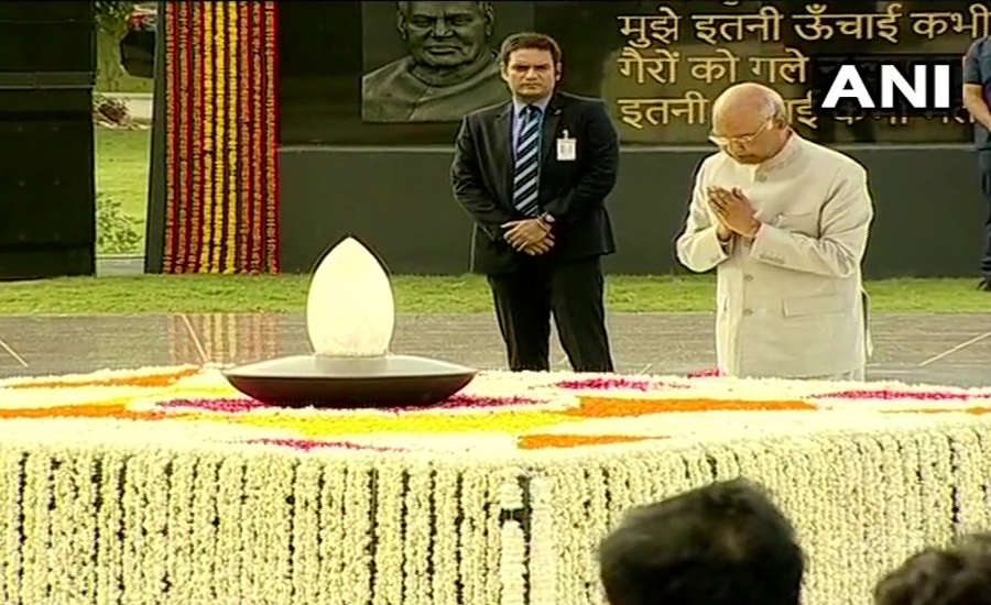 President Kovind, PM Modi pay tributes to Atal Bihari Vajpayee on his first death anniversary