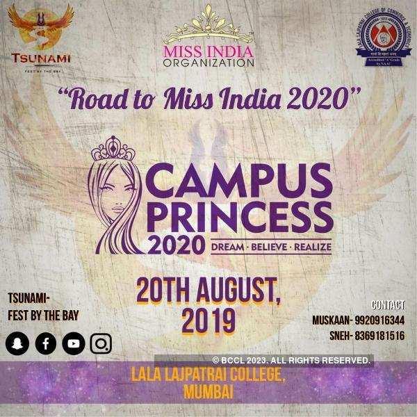 Campus Princess 2020 at Tsunami, Mumbai