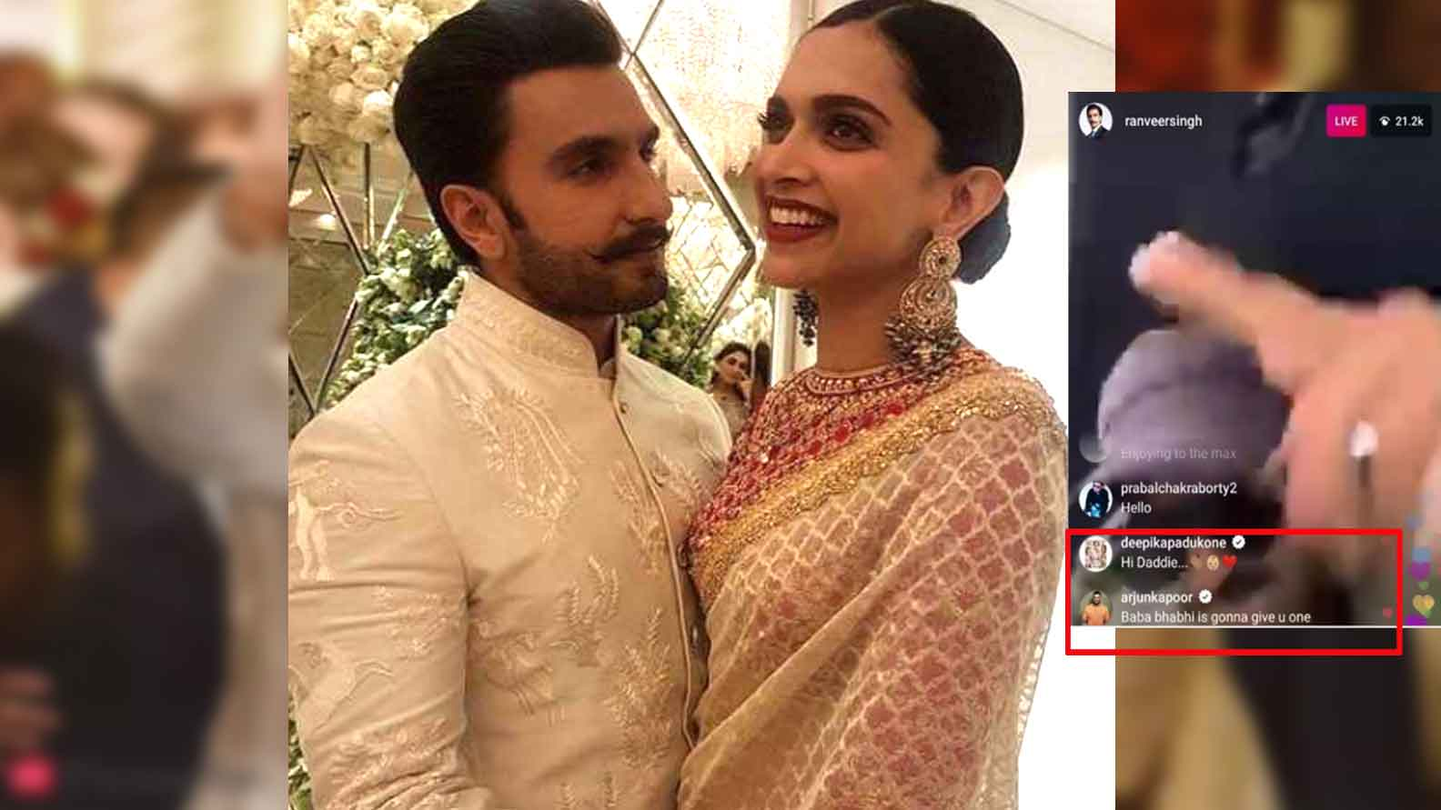 Deepika Padukone's 'Hi Daddie' comment on hubby Ranveer Singh's live chat leaves fans guessing!