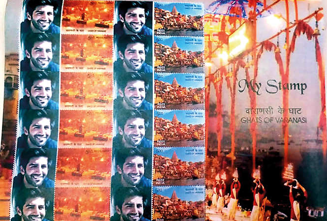 Kartik Aaryan and the customized stamps  gifted to him (BCCL)
