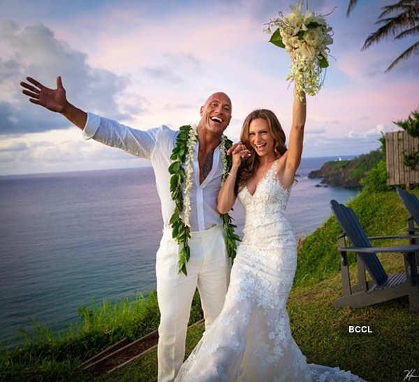 Dwayne Johnson and Lauren Hashian