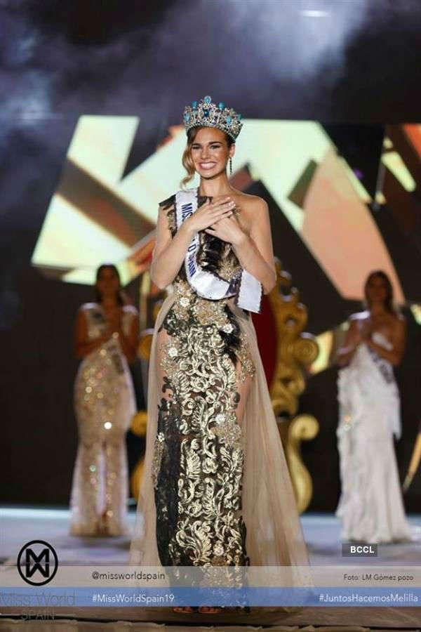 Maria Del Mar Aguilera crowned Miss World Spain 2019