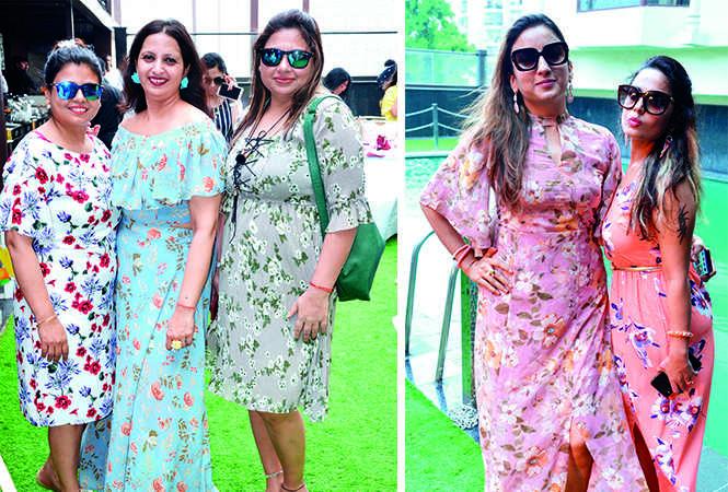 (L) Neetu Shukla, Rashmi Jain and Akansha Agarwal (R) Palak Agarwal and Prachi Vasdhani (BCCL/ IB Singh)