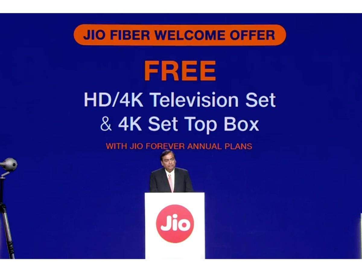 Reliance Jio GigaFiber to offer free LED TVs, 4K set-top box
