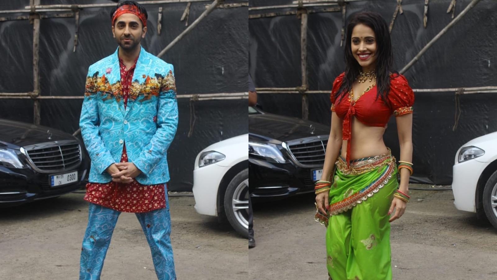 'Dream Girl' song 'Dil Ka Telephone' launch: Ayushmann Khurrana and Nushrat Bharucha rock the desi look