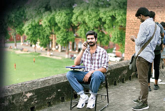 Sunny Kaushal relaxing between shots (BCCL/ Amar Deep)