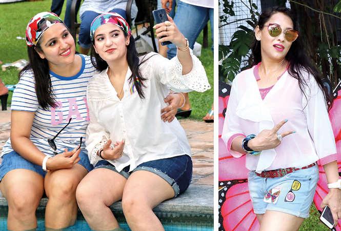 (L) Hina Arora and Pritika Arora (R) Manisha Agrawal (BCCL/ Unmesh Pandey)
