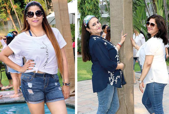 (L) Pooja Tandon (R) Shweta Melhotra and Shilpi Ahuja (BCCL/ Unmesh Pandey)