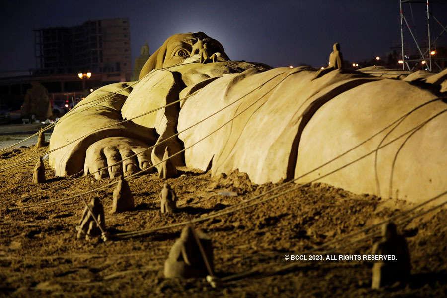 Sand Sculpture Festival: Sculptors showcase irresistible art work