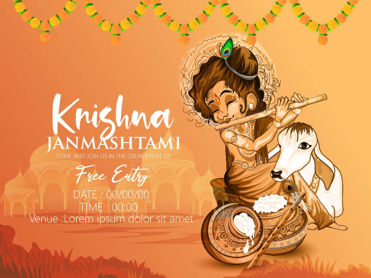 Krishna Janmashtami Pictures, GIFs and Wallpapers