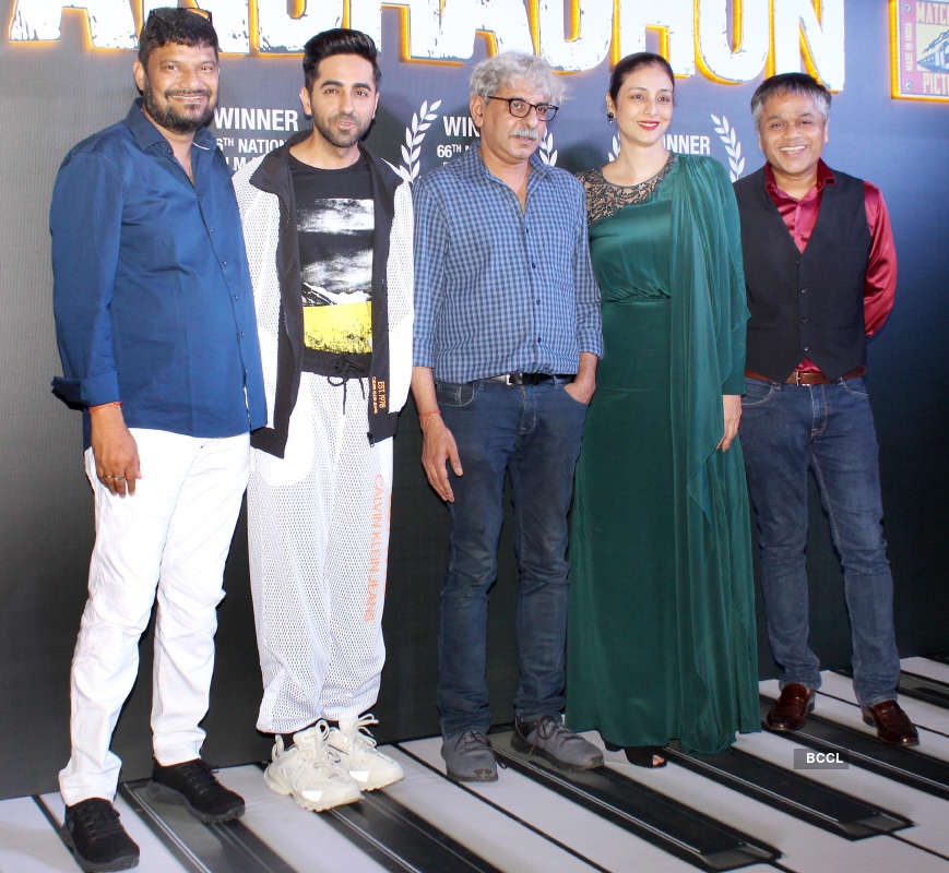 Team 'Andhadhun' celebrates the film's win at the 66th National Film Awards