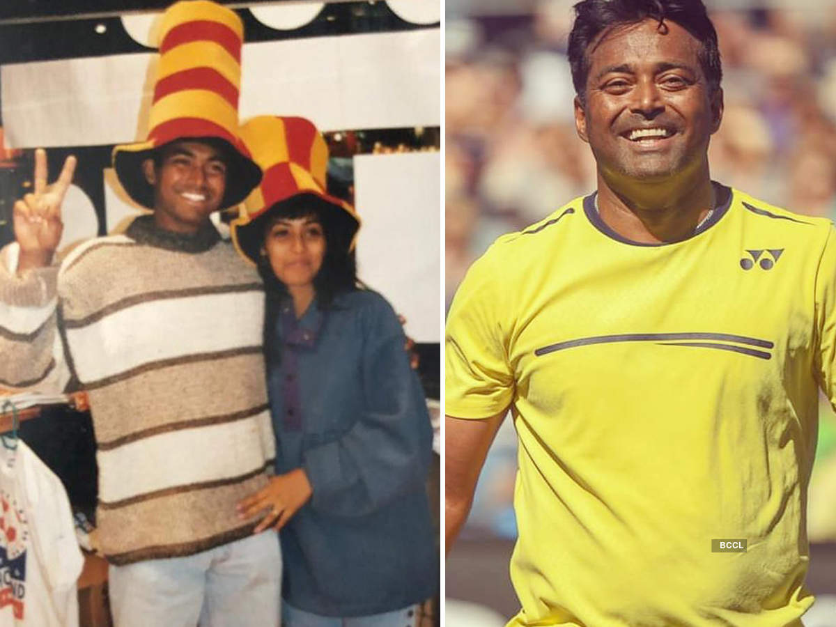 Indian tennis star Leander Paes shares his first throwback pic with sister