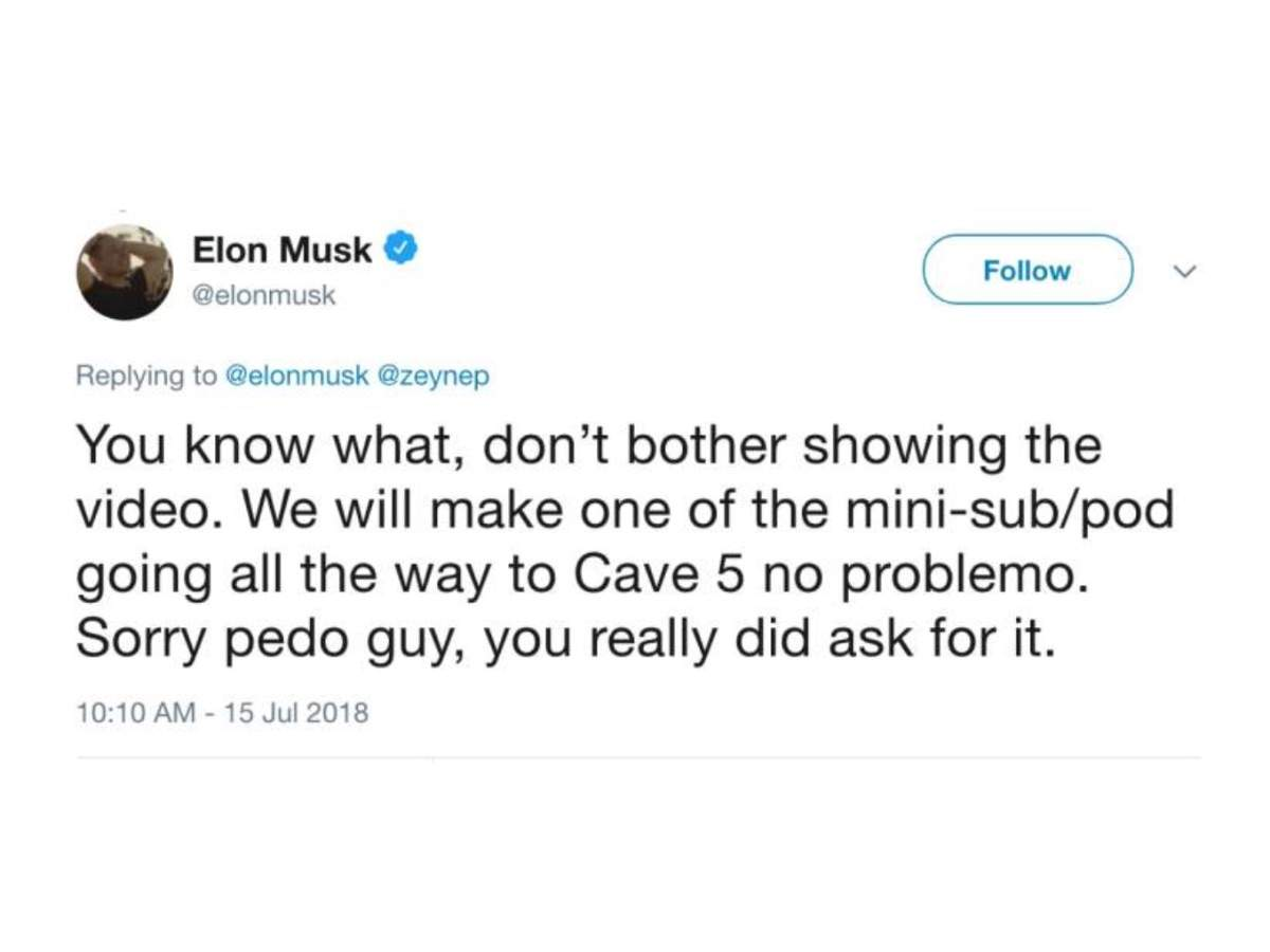 When he created a controversy about kids trapped in a cave