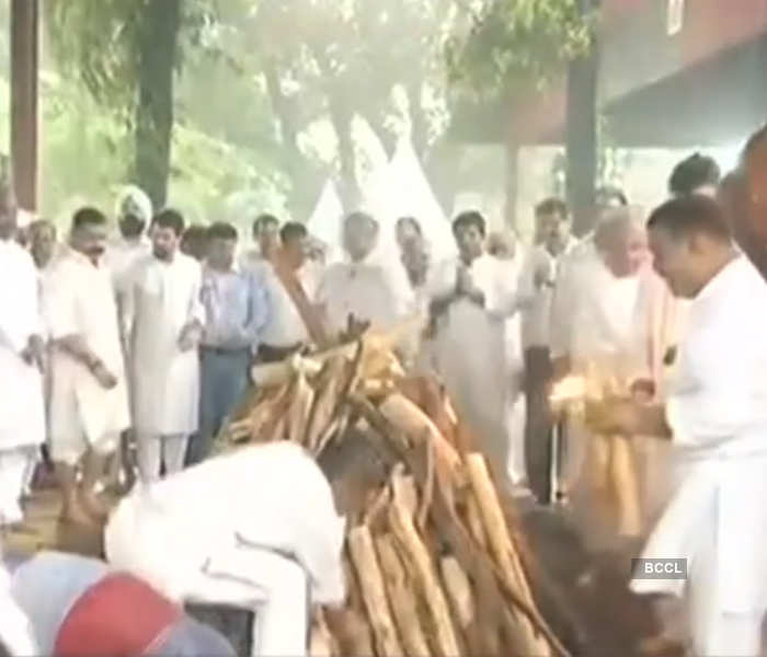 Arun Jaitley's funeral pictures: Former finance minister cremated with full state honours