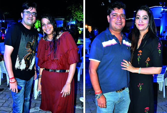 (L) Avinash and Parul Sharma (R) Dheeraj and Ritika Thapar (BCCL/ AS Rathor)