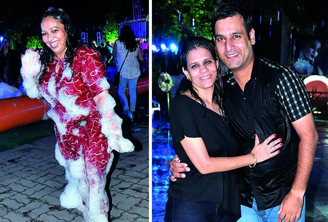 (L) Monica Singh (R) Neha Valecha and Jai Valecha (BCCL/ AS Rathor)