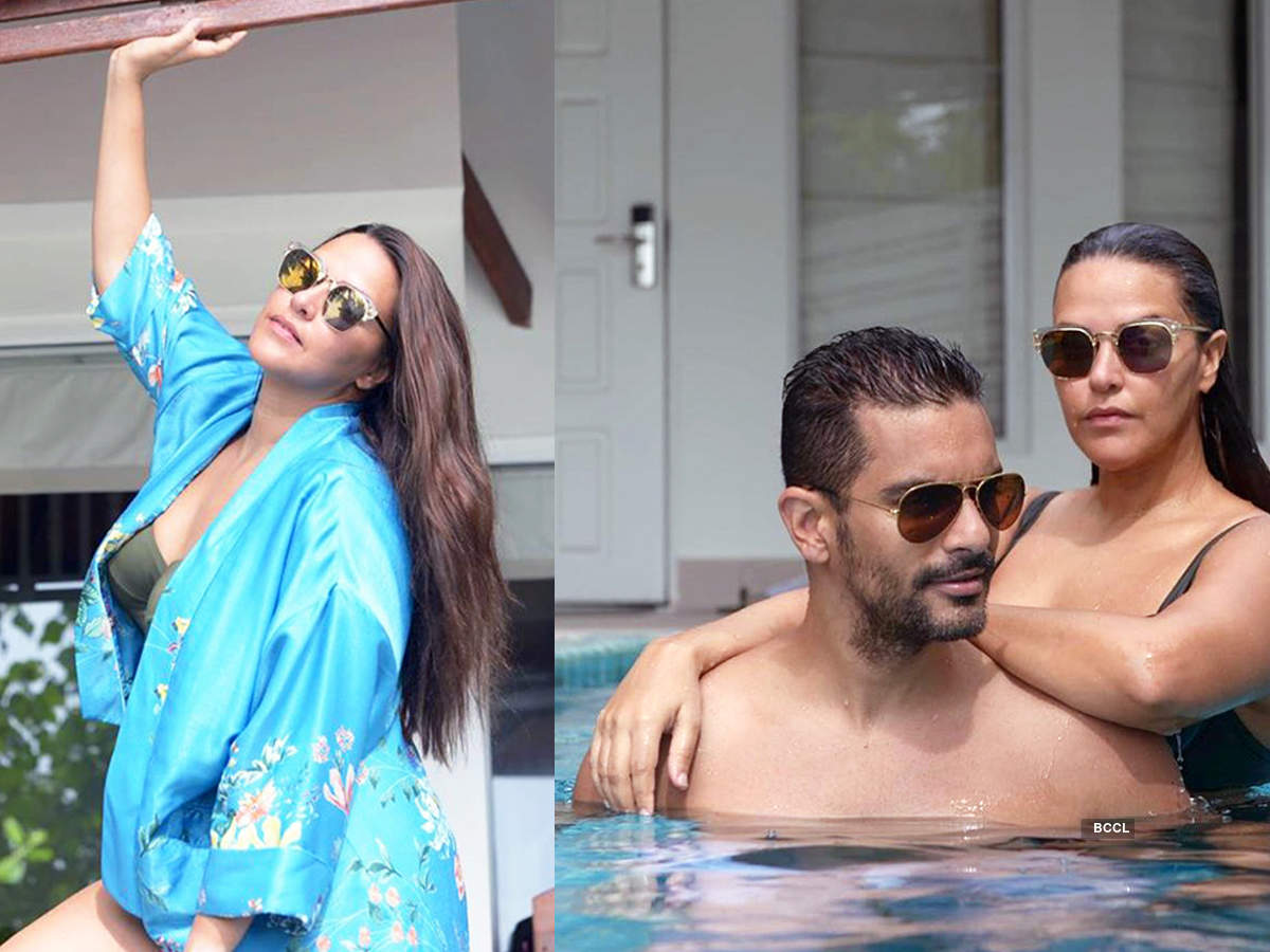 First pictures of Neha Dhupia & Angad Bedi's little daughter Mehr go viral...