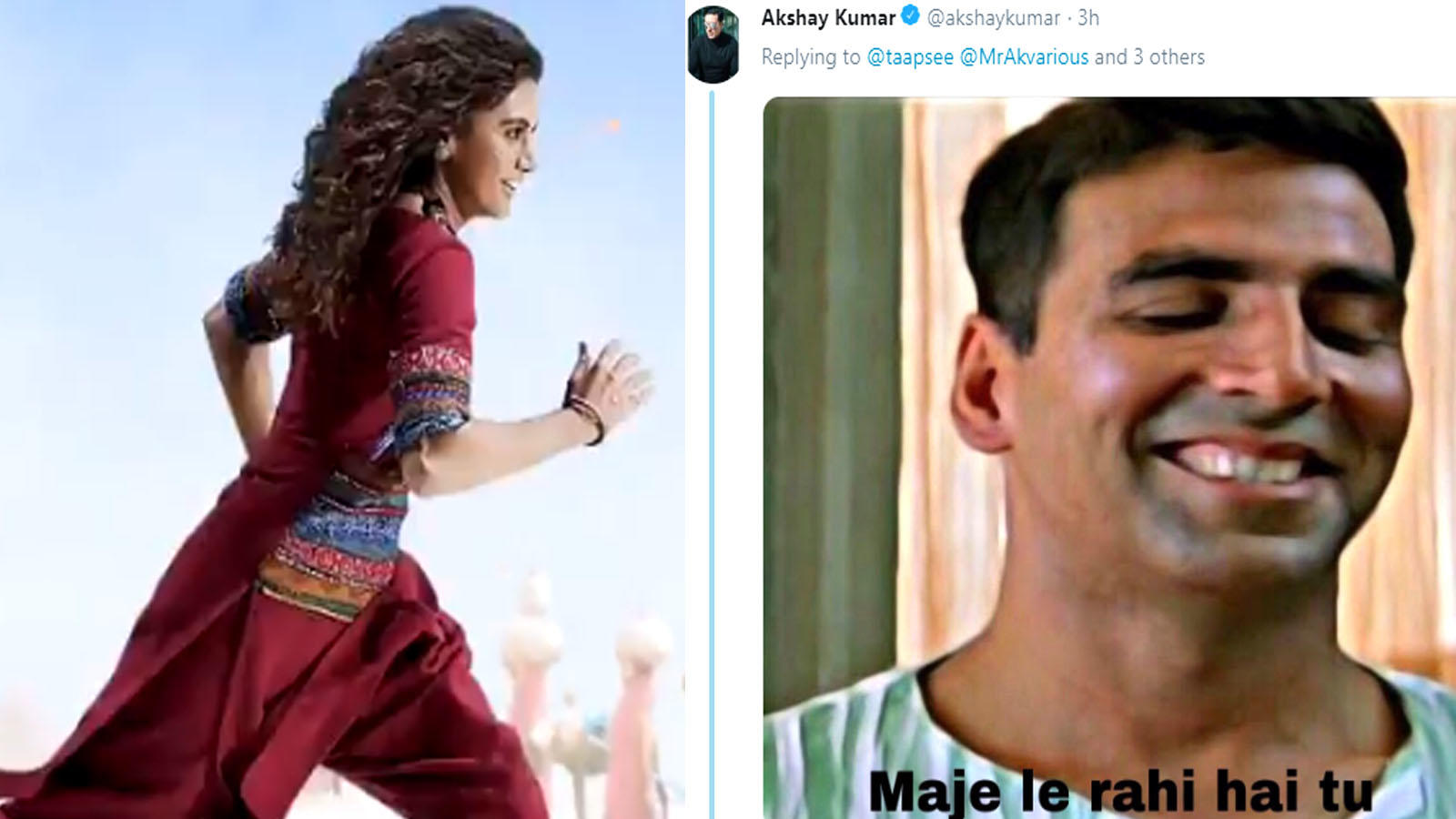 'Rashmi Rocket' motion poster: Akshay Kumar and Taapsee Pannu's hilarious Twitter banter is unmissable