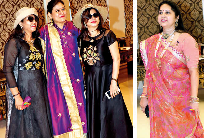 (L) Jaimala Agrawal, Alpana Agrawal and Sachi Agrawal (R) Meenu Agrawal (BCCL/ Unmesh Pandey)