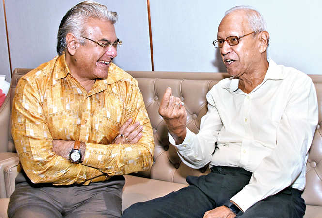 Rajnish Chopra and SVM Tripathi  (BCCL/ Farhan Ahmad Siddiqui)
