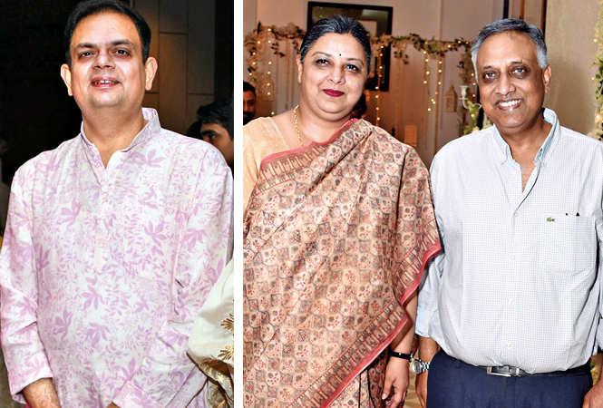 Yatindra Misra with Alka and JN Mathur  (BCCL/ Farhan Ahmad Siddiqui)