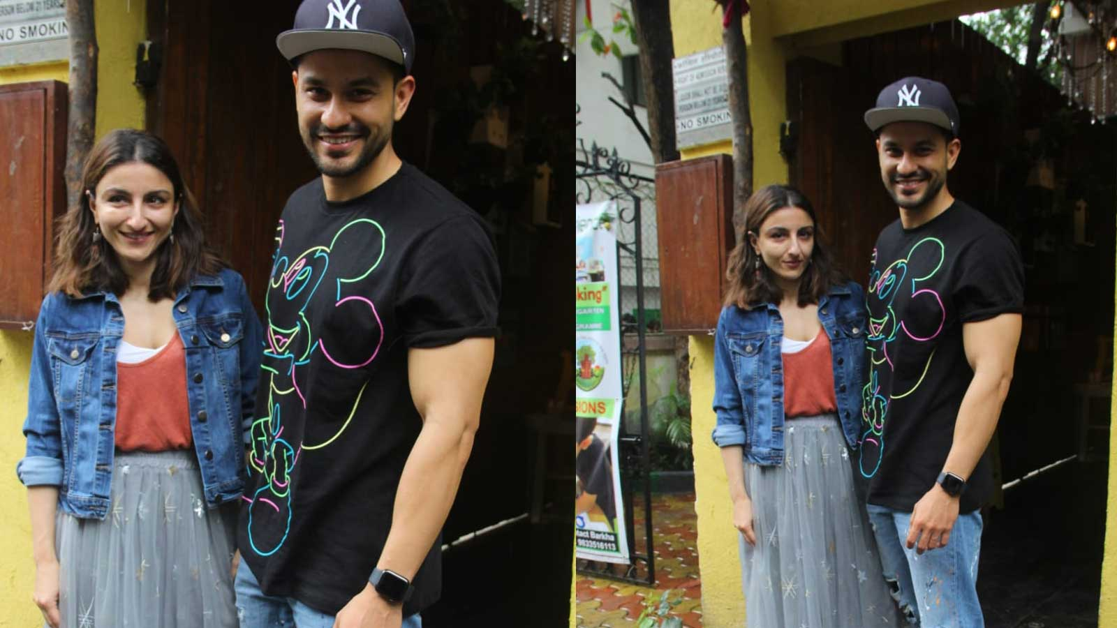 Kunal Kemmu, Soha Ali Khan pose for shutterbugs in causal looks