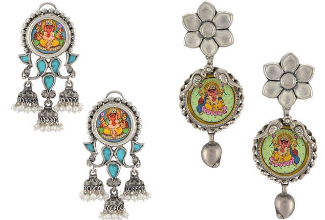 Ganesha earrings