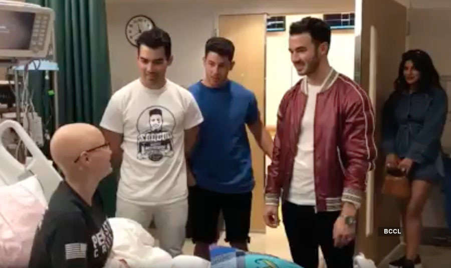 Priyanka Chopra and Nick Jonas meet ailing fan in hospital