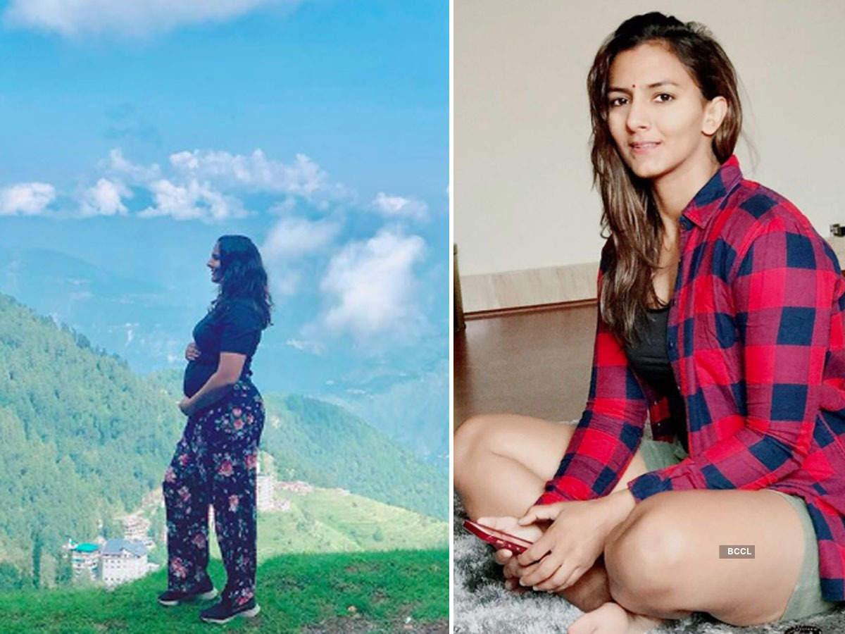 Wrestler Geeta Phogat shares new baby bump pic on social media