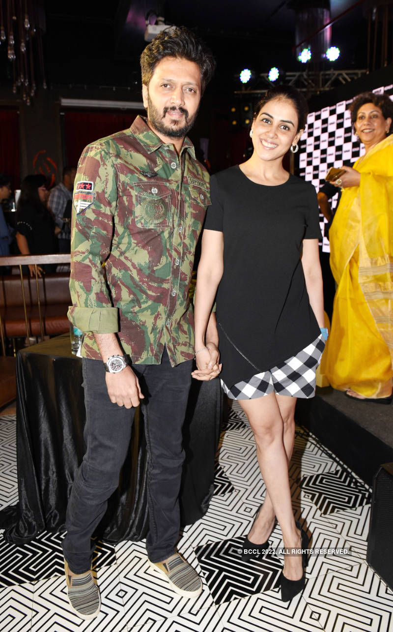 Riteish Deshmukh and Genelia D'Souza attend the Kohler Bold Art event