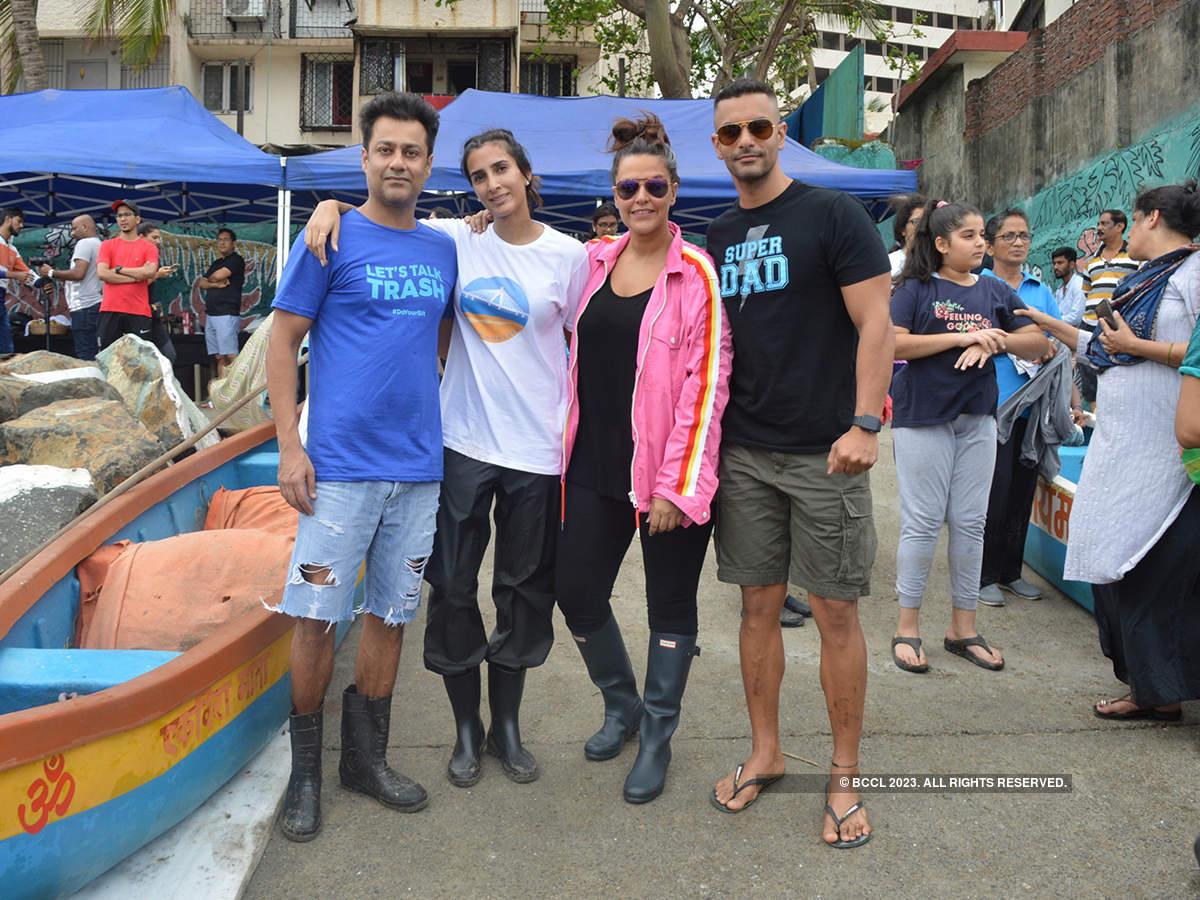 Pragya and Abhishek Kapoor host beach clean-up drive to celebrate their son's first birthday