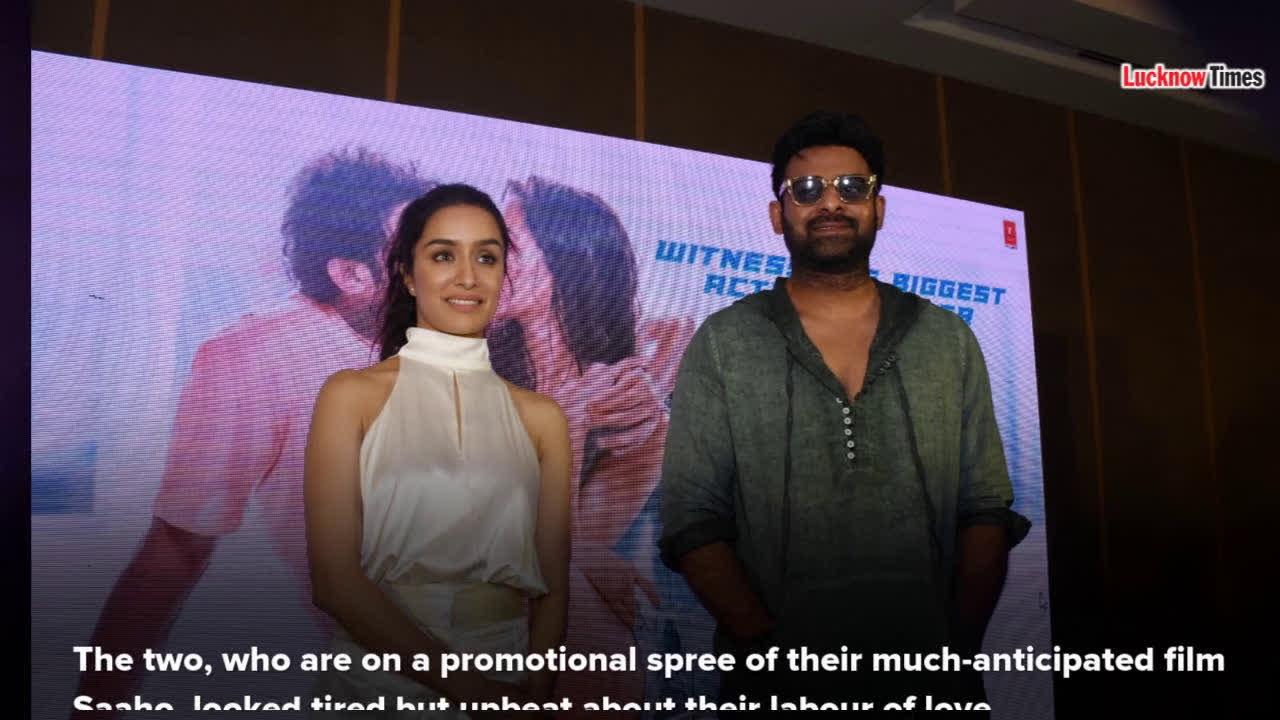 Lucknow is a happy place: Prabhas and Shraddha
