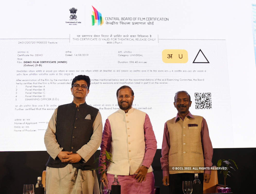 Central Board of Film Certification: Film certificate and logo launch
