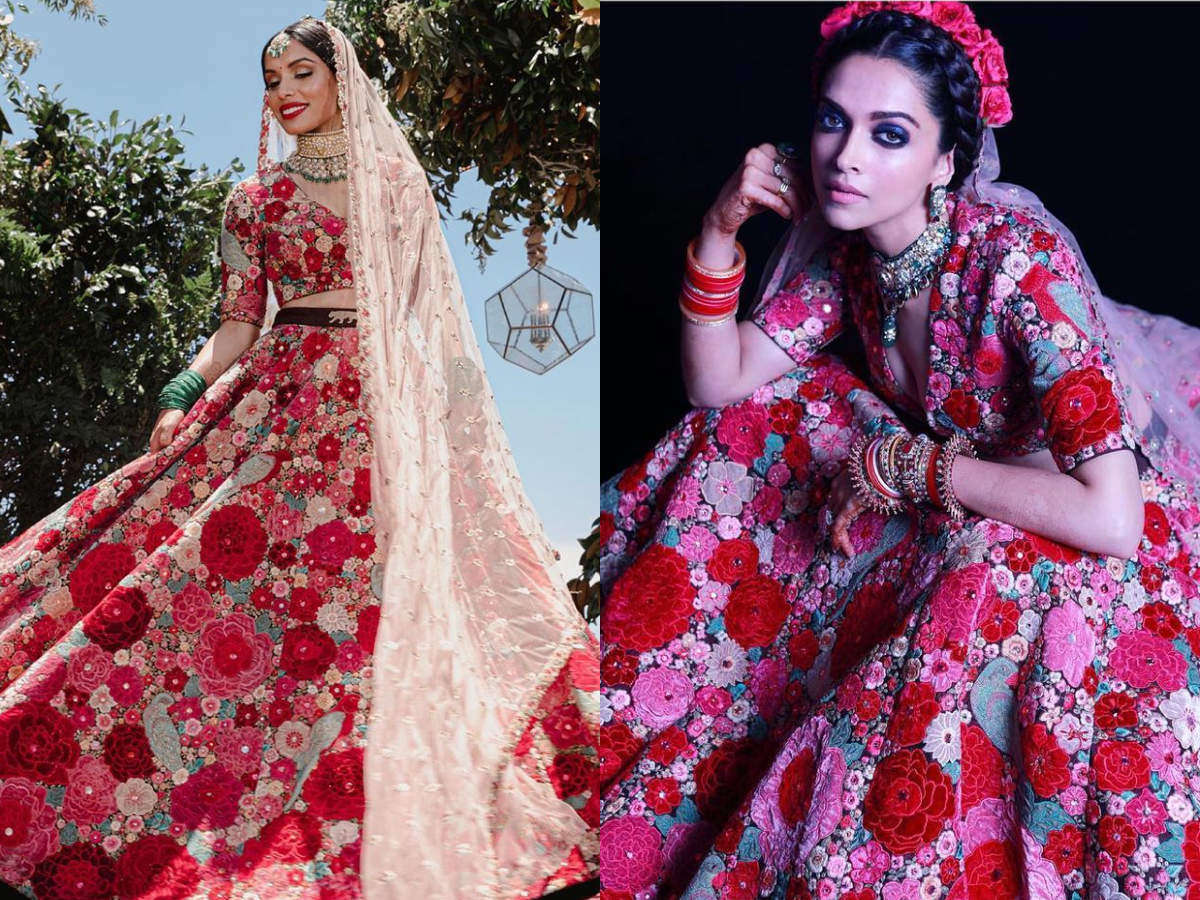 This NRI bride wore Deepika Padukone's reception lehenga ...