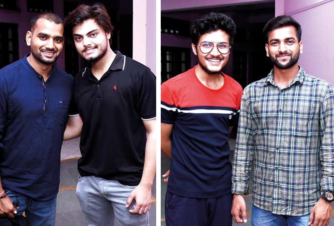 (L) Vikas Gutam and Shahrukh Hasan (R) Vindhyanshu Dubey and Harsh Mishra (BCCL/ Vishnu Jaiswal)