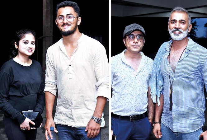 (L) Basant Kumar and Yashi Dixit (R) Abhinav Chhabra and Bhupesh Rai (BCCL/ Vishnu Jaiswal)